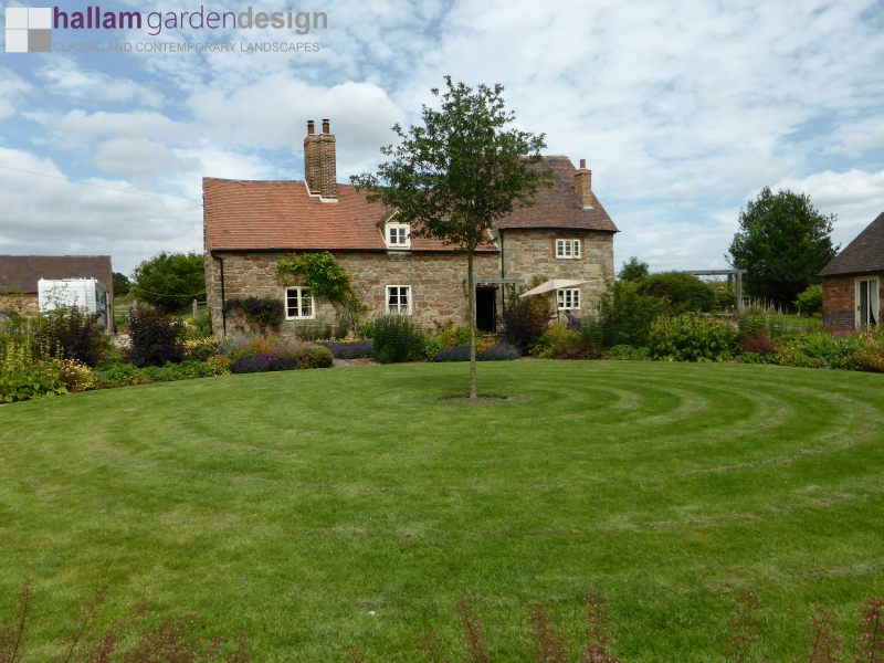 Green farm warwickshire grade 2 listed farm buildings recently renovated with two acres of land planting was completed in the front garden during the