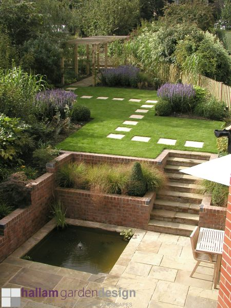 Sloping sites a selection for Garden design ideas sloping site
